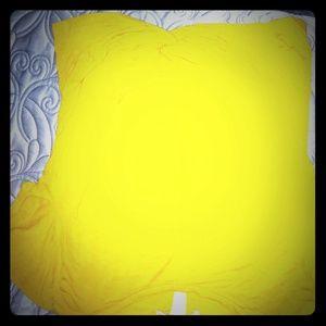 Gaze USA Knot Crop Tee Yellow